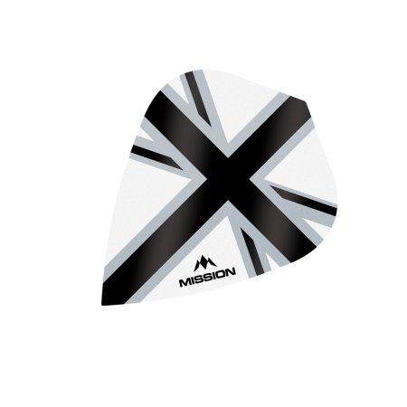 Mission Letky Alliance-X Union Jack - White / Black F3118