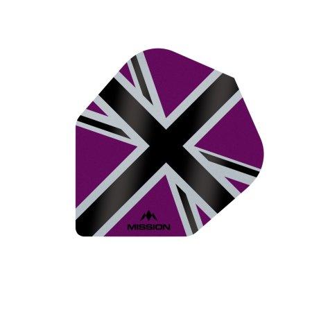 Mission Letky Alliance-X Union Jack No6 - Purple / Black F3123