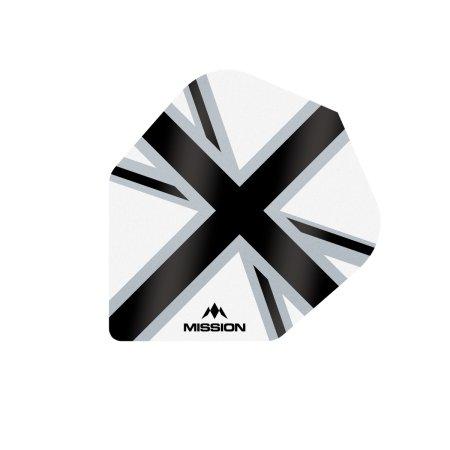 Mission Letky Alliance-X Union Jack No6 - White / Black F3125