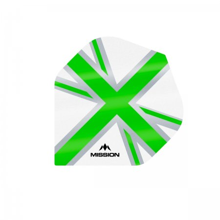 Mission Letky Alliance Union Jack - White / Green F3128