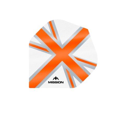 Mission Letky Alliance Union Jack - White / Orange F3129
