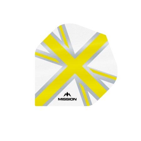 Mission Letky Alliance Union Jack - White / Yellow F3130