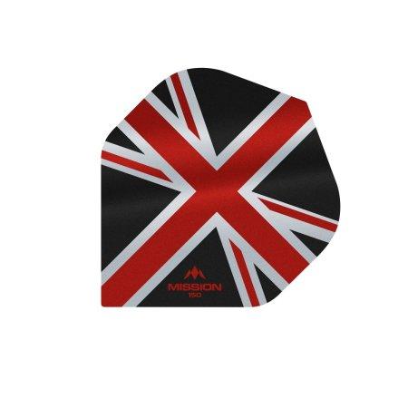 Mission Letky Alliance Union Jack - 150 - Black / Red F3134