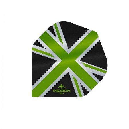 Mission Letky Alliance Union Jack - 150 - Black / Green F3135