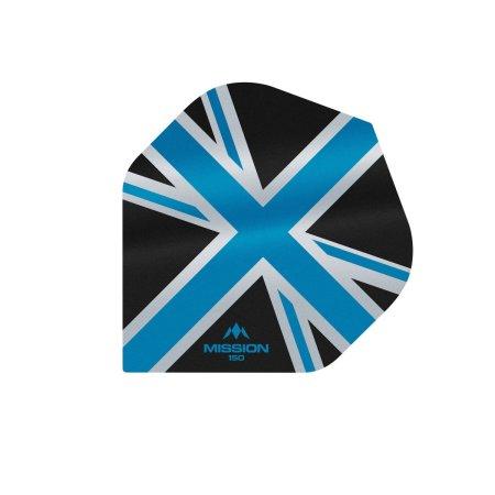 Mission Letky Alliance Union Jack - 150 - Black / Blue F3137