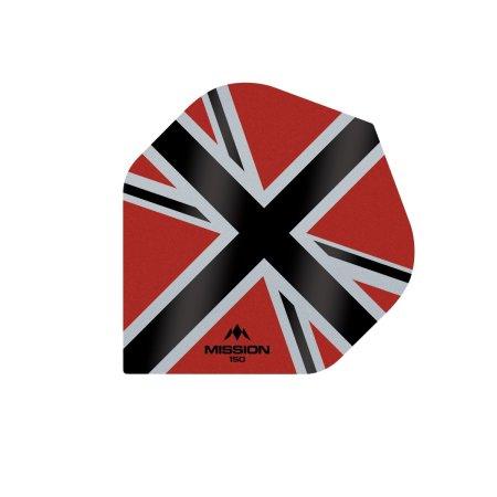 Mission Letky Alliance-X Union Jack - 150 - Red / Black F3139