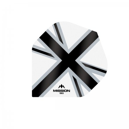 Mission Letky Alliance-X Union Jack - 150 - White / Black F3141
