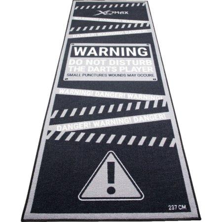 XQMax Darts Dart Mat - Koberec k terči - Warning